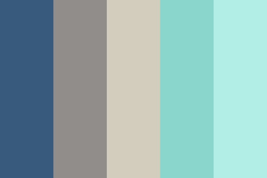 Blue Teal Neutral Color Palette. #colorpalettes # ...