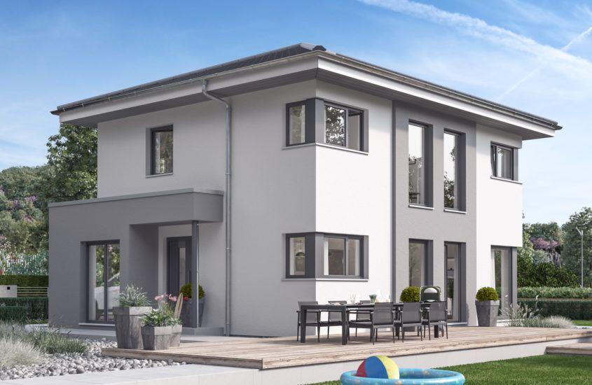 Stadtvilla modern mit Walmdach, 5 Zimmer, 125 qm