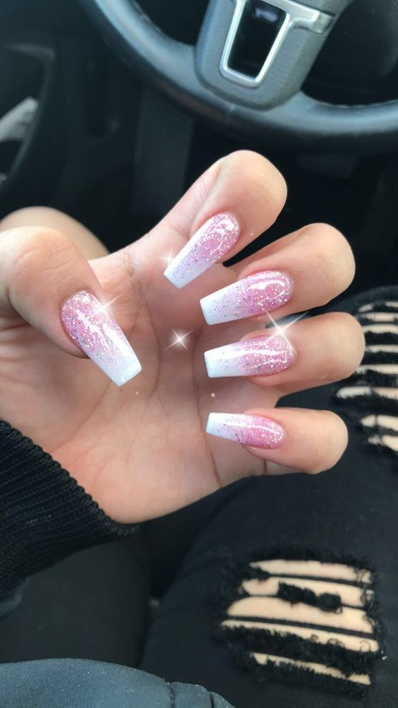 Top 62 Coffin Nails Art Designs For Winter 2018 Coffinnails With Images Pink Ombre Nails Ombre Acrylic Nails Ombre Nail Designs