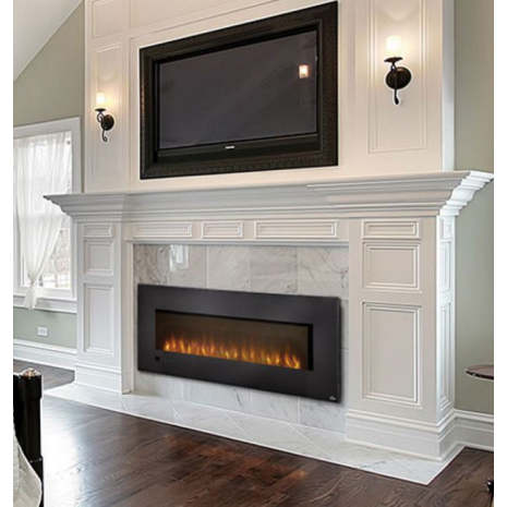 Nice Love The Mantel And The Way The Black Sconces Help Balance And Kind Of  Minimize The Black Fireplace Surround And TV.
