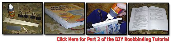 Way cool book binding tutorial i am going to use this to make an do it yourself book binding tutorial glue method solutioingenieria Choice Image