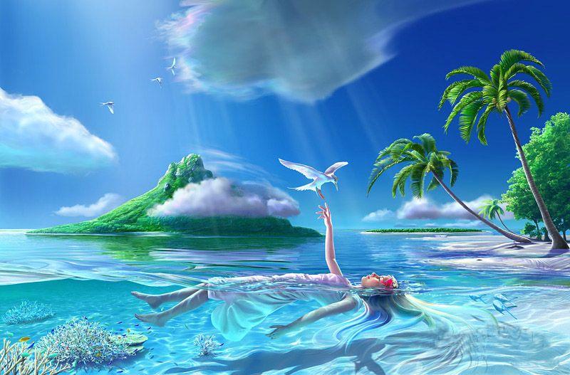 paisajes hermosos para fondo de pantalla en 3d con