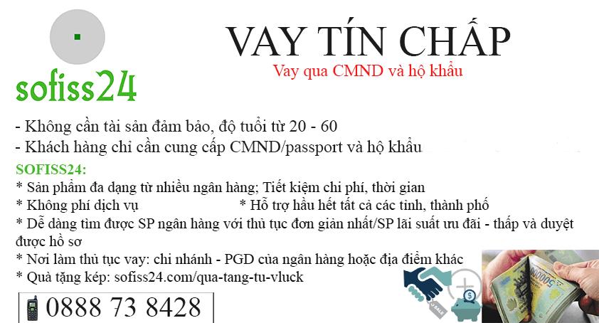 Vay qua CMND và hộ khẩu