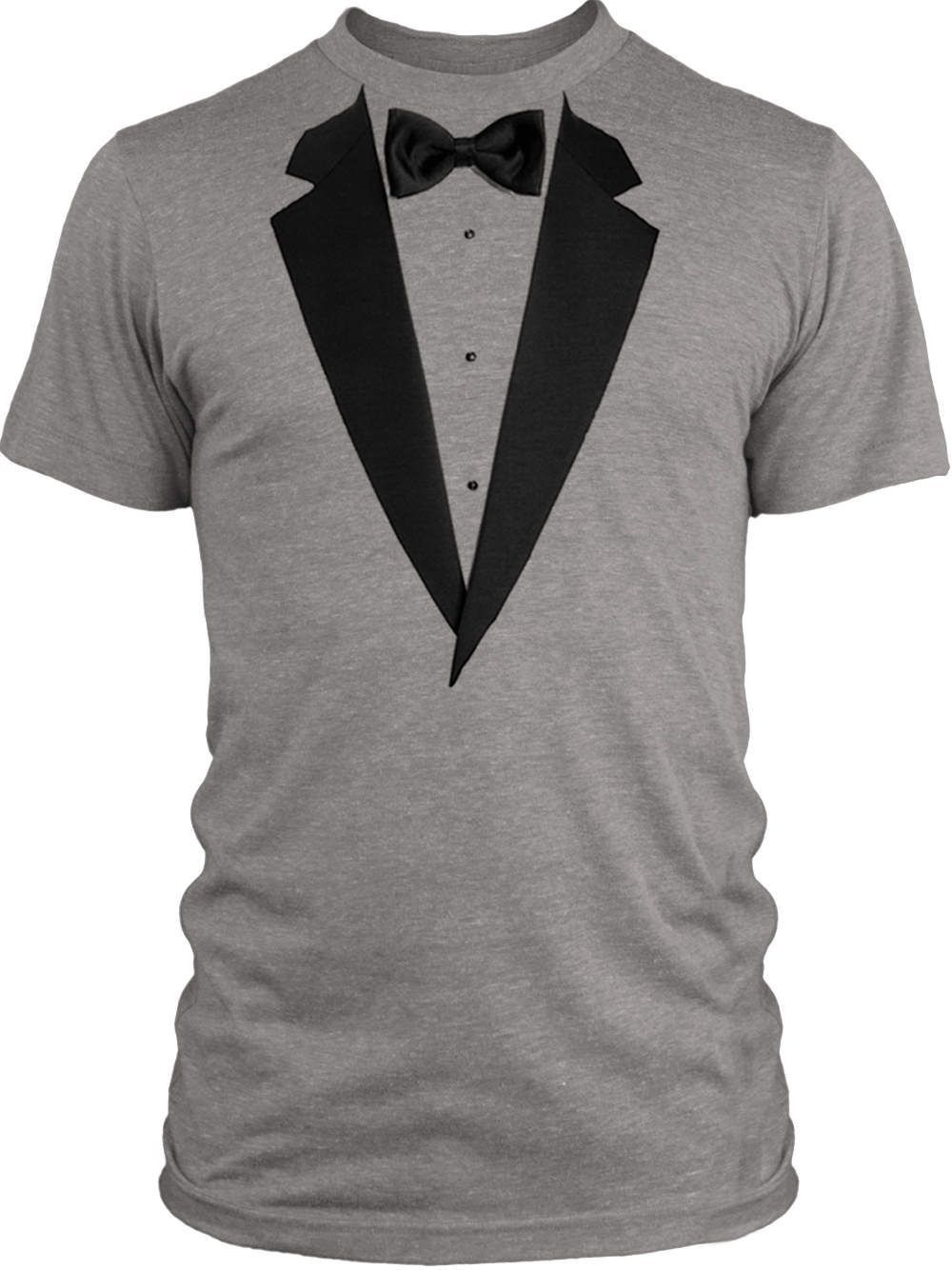 Big Texas Realistic Tuxedo (Black) Vintage Tri Blend T Shirt