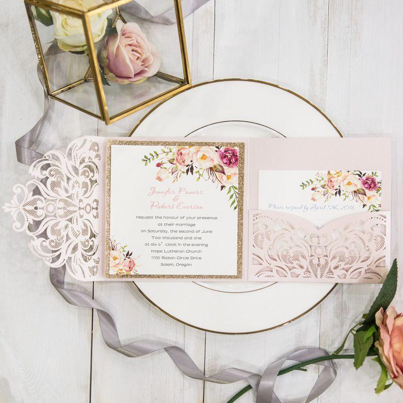 Wedding Invitations u0026 Stationery by NellysWed Invitation