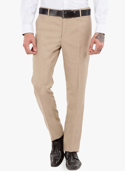 fc1d29df8e3 Buy Black Coffee Beige Solid Formal Trousers for Men Online India, Best  Prices…