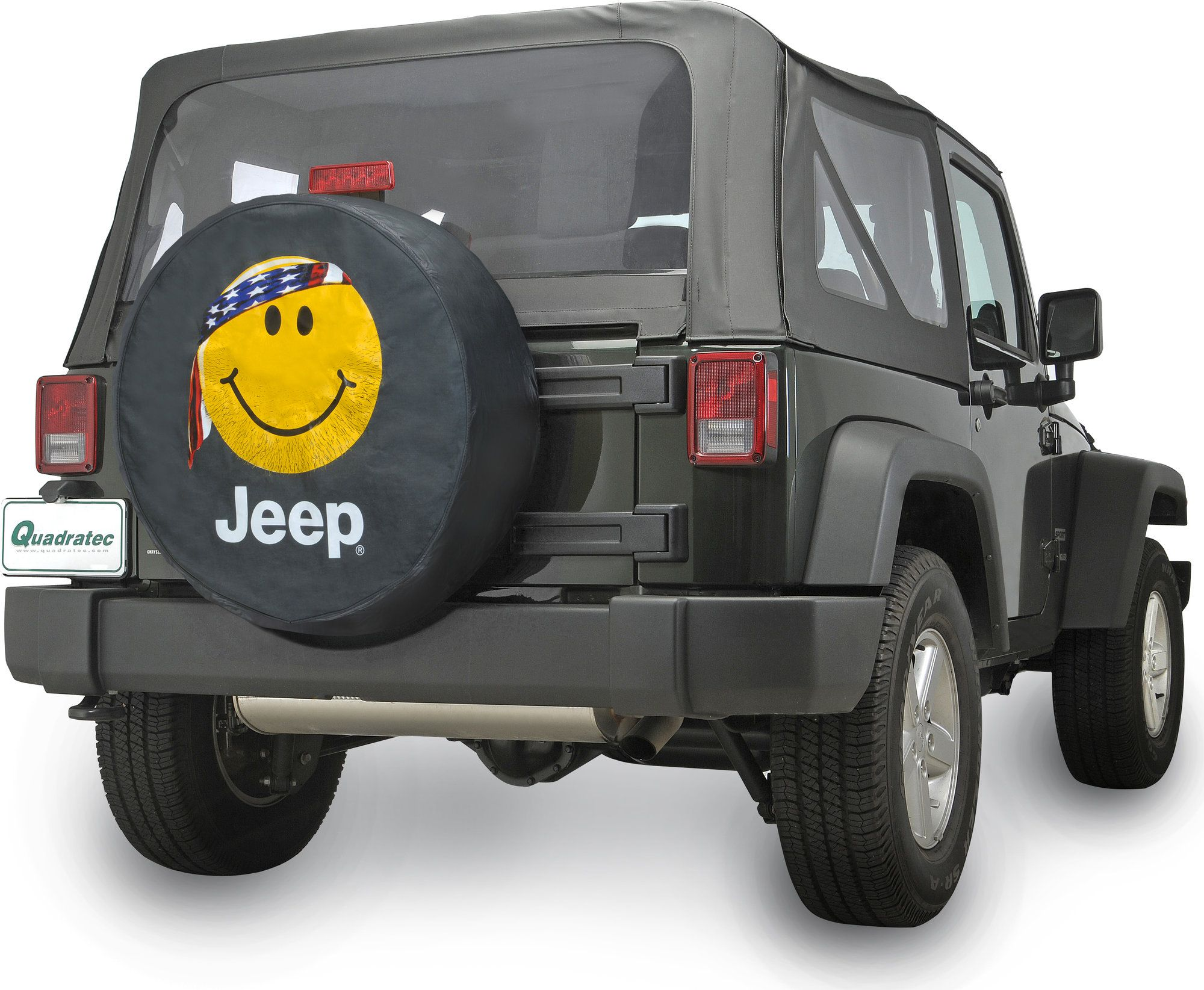 Mopar Jeep Logo Tire Covers In Black Denim With Smiley Face Jeep