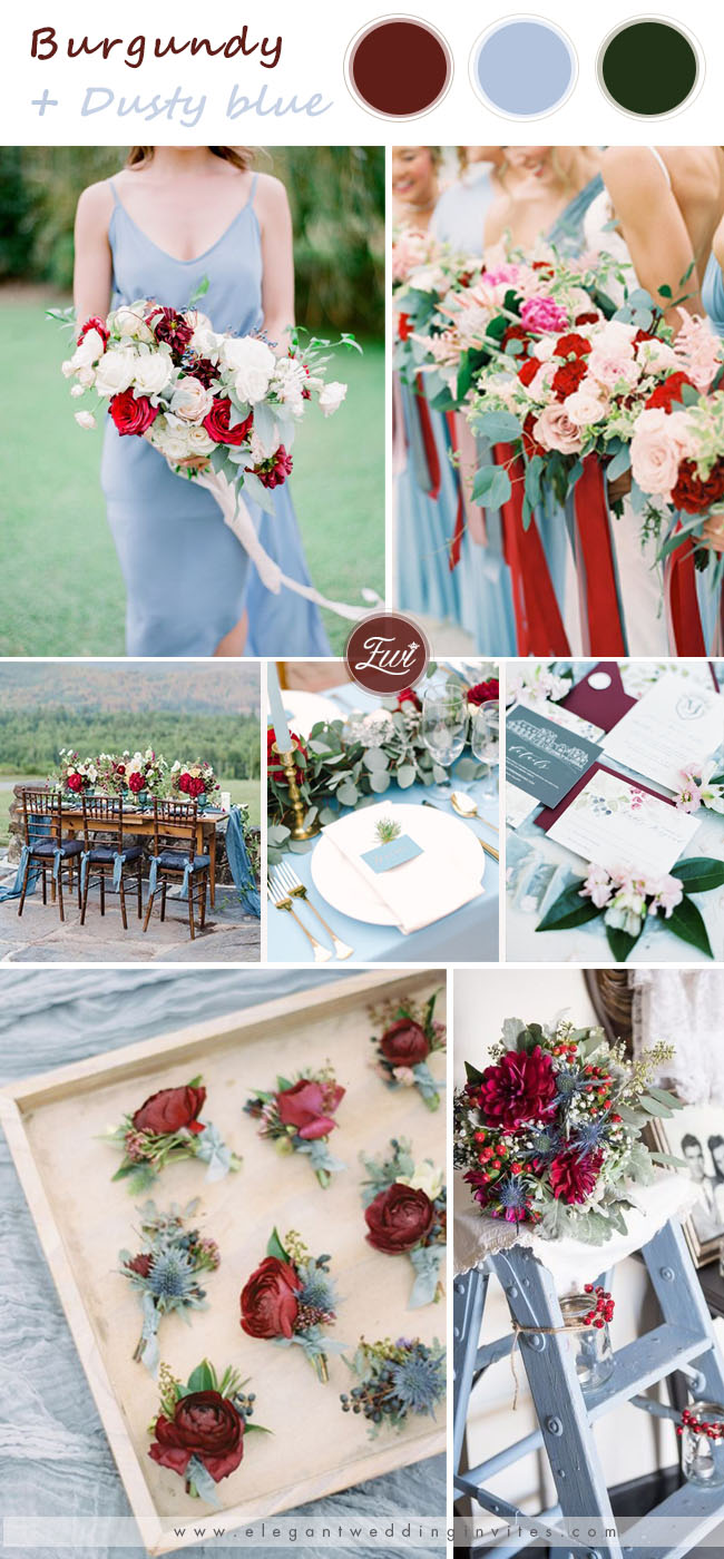 8 Gorgeous Burgundy Wedding Season Color Ideas For 2020 Brides Elegantweddinginvites Com Blog In 2020 Wedding Season Colors Burgundy Wedding Spring Wedding Colors