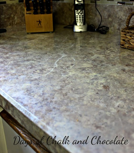 Days Of Chalk And Chocolate How To Paint Your Countertops Faux Granite Countertops Faux Granite Home Improvement