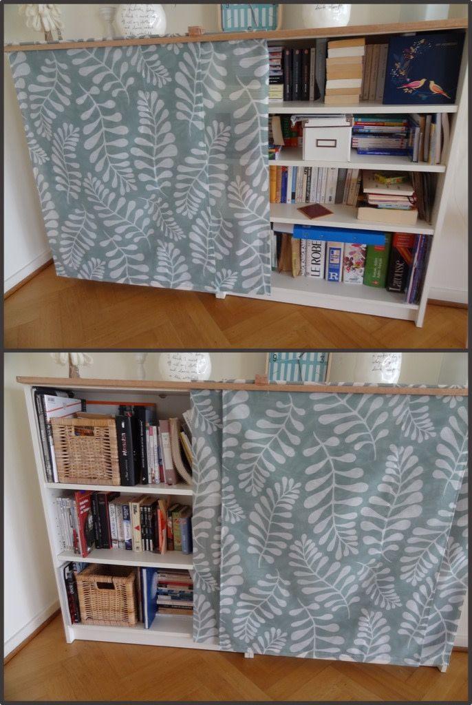 Fabric Sliding Doors Gets Dust Away From Billy In 2020 Innen Schiebeturen Billy Regal Turen Ikea Billy Tur