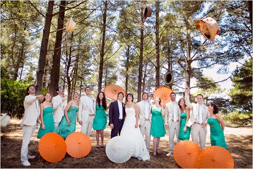 Orange And Teal Wedding Ideas