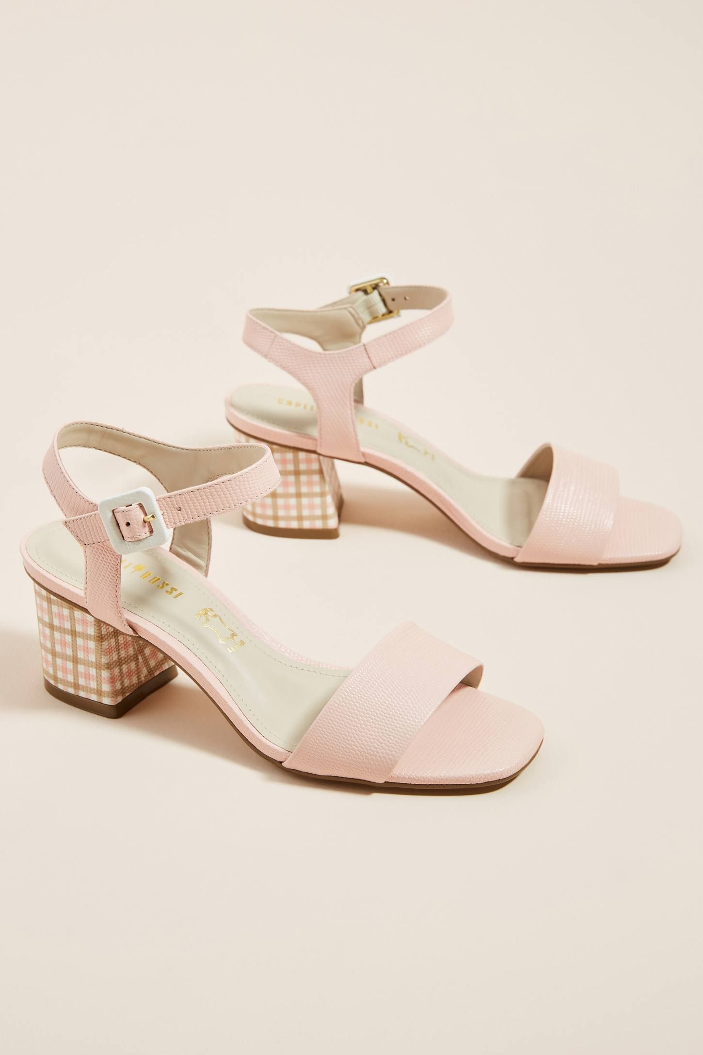 67e58fed84 Capelli Rossi Gingham Heeled Sandals in 2019 | Passion for Fashion ...