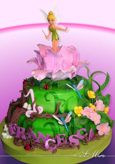 Tinker bell cake | Cake | Pinterest | Campanilla, Tartas y Torta ...