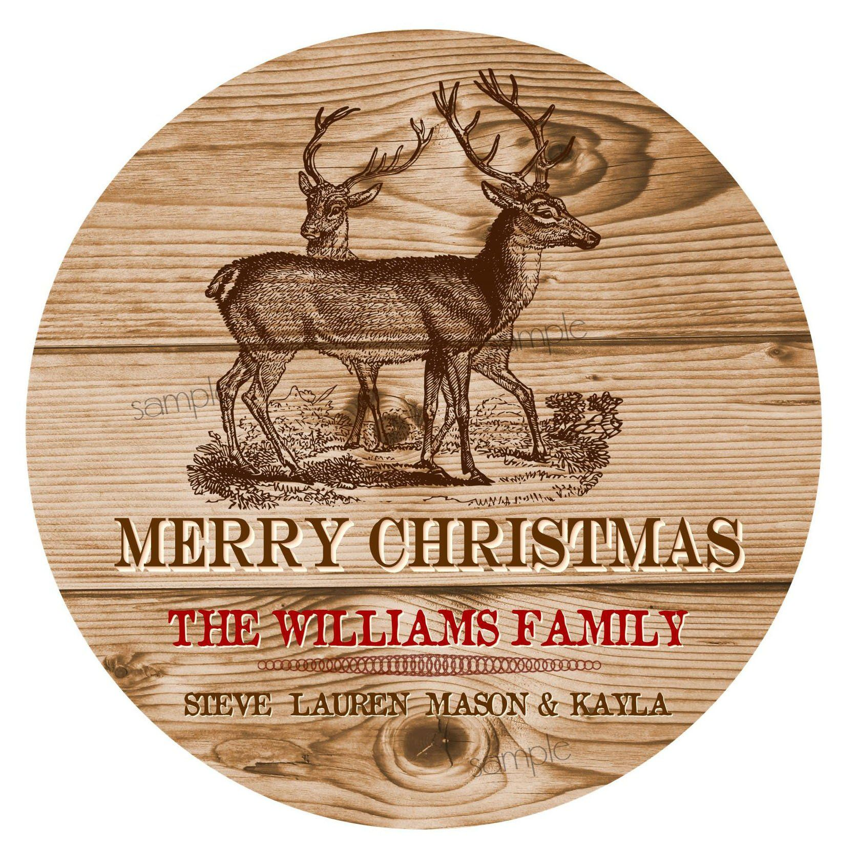 Christmas Gift Stickers, Woodland Christmas Labels, Rustic Christmas stickers, Deer, Wood burning , Wood stencil, Gift Wrap Labels #burnedwoodstenciling