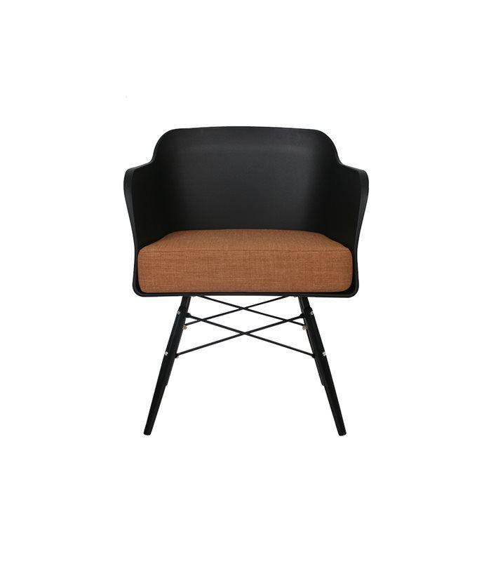 Eetkamerstoel Cooper kunststof design stoel met dik kussen