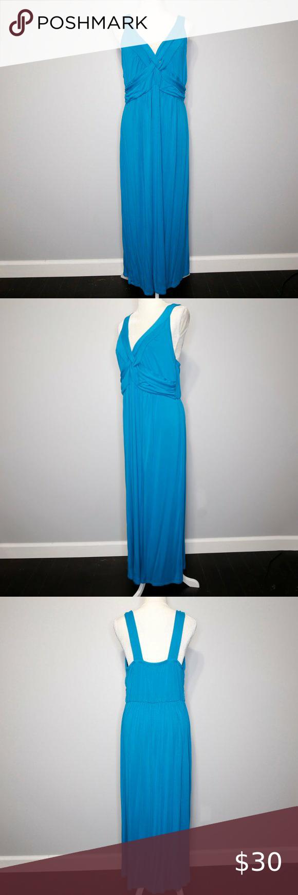 Ing Teal Blue V Neck Stretchy Maxi Dress Ing Teal Blue V Neck Stretchy Maxi Dress 2x Rayon Spandex Dress Size Chart Women Color Block Maxi Dress Maxi Dress [ 1740 x 580 Pixel ]