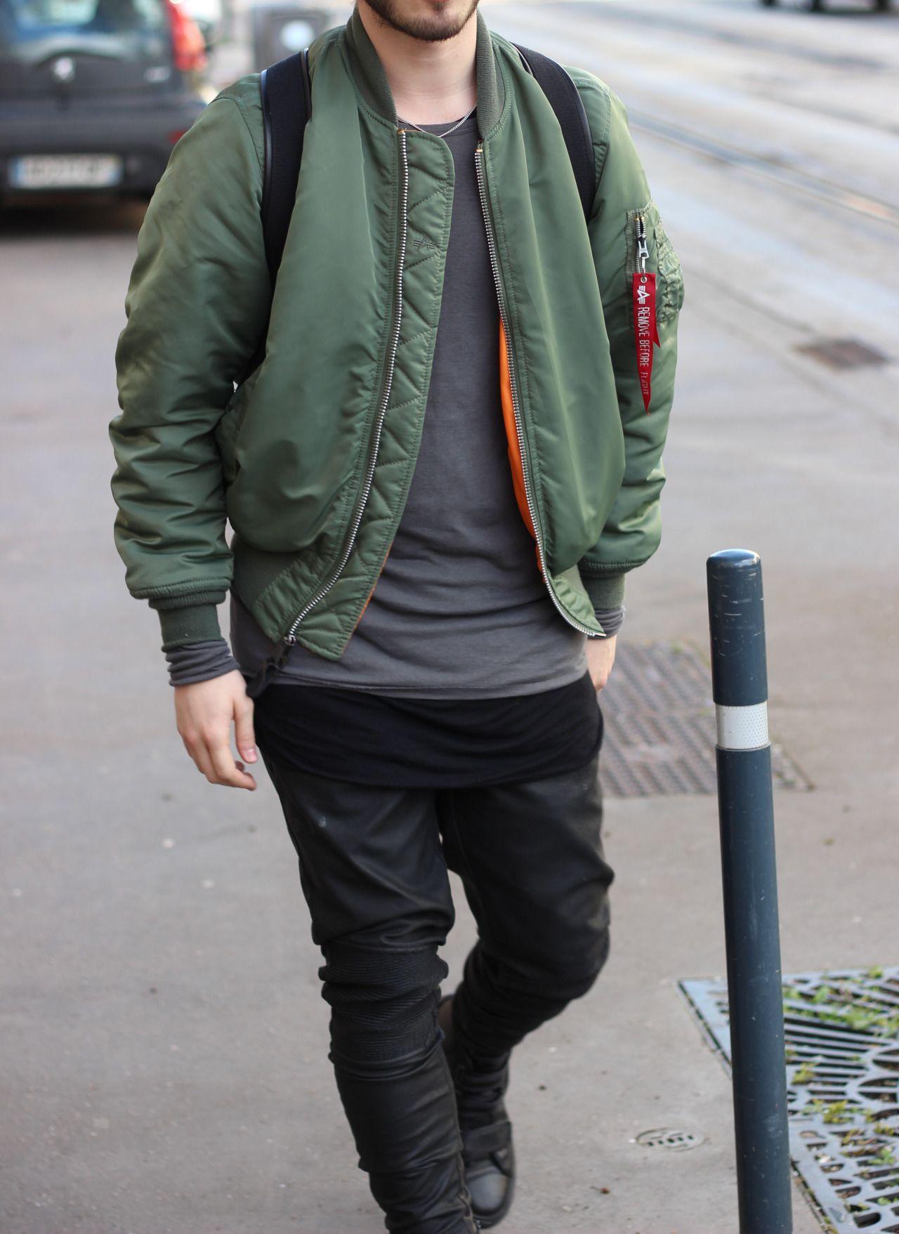 Monochrome And High End Streetwear Green Bomber Jacket Outfit Bomber Jacket Bomber Jacket Outfit [ 1757 x 1280 Pixel ]