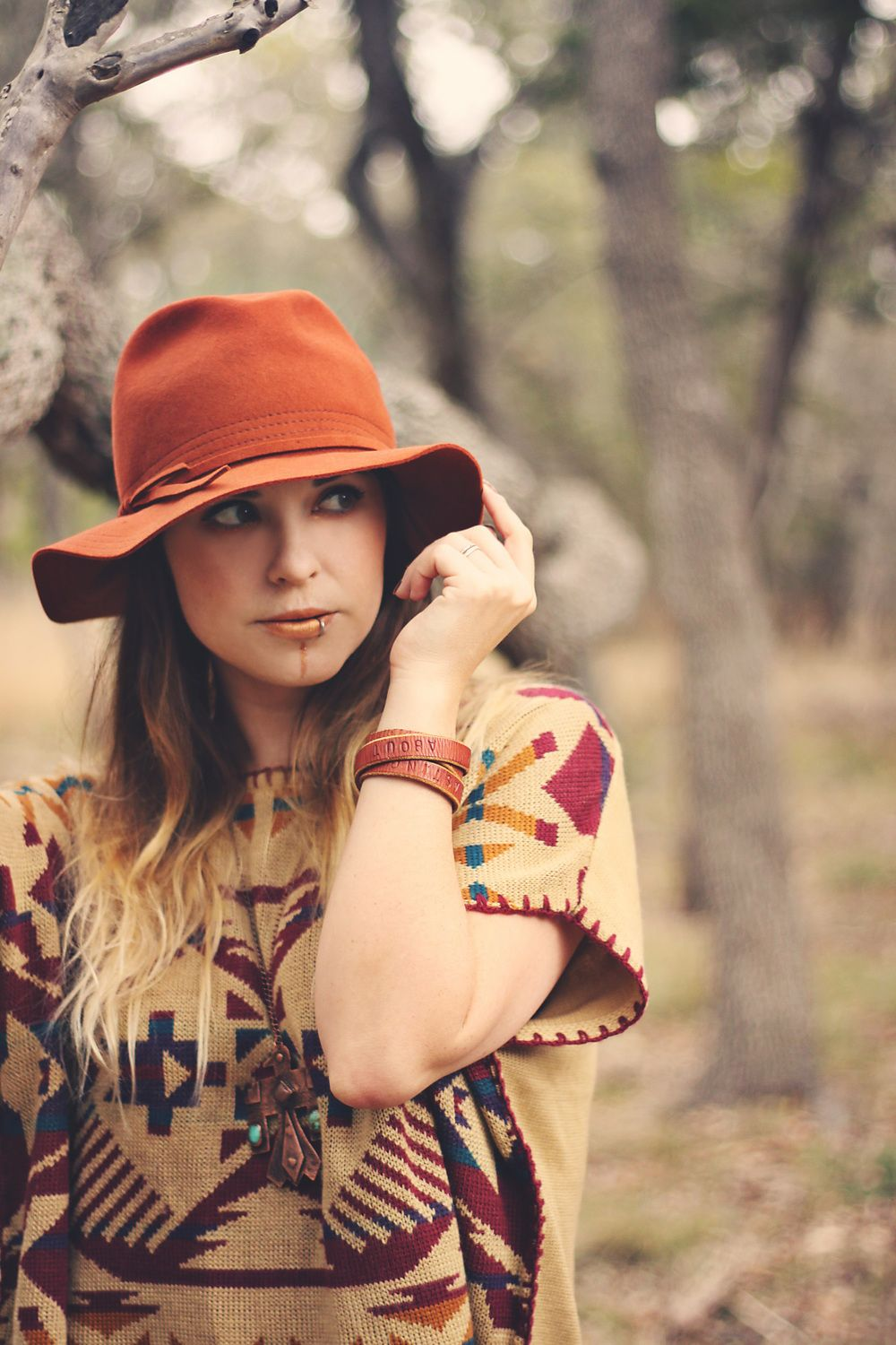 85 Stunning Bohemian Style Interior Design Ideas For Your: Rust Floppy Felt Hat. The Bohemian Collective