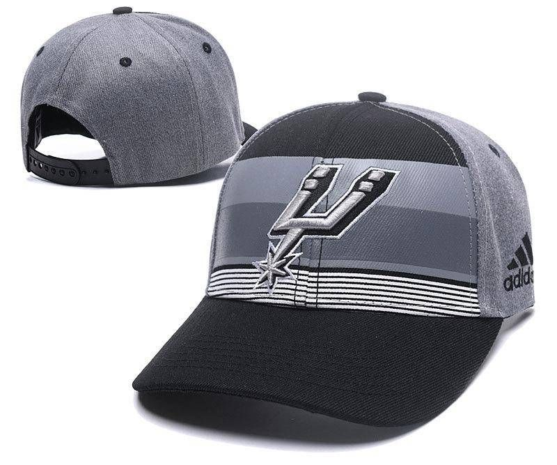579a1ac28 Mens Womens San Antonio Spurs NBA Team Logo Striped Flex Hat - Black ...