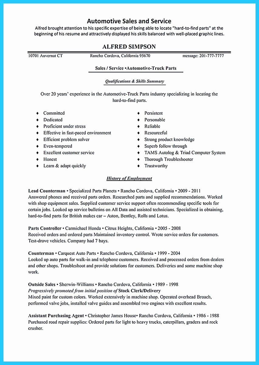 Mechanic Job Description Resume Luxury Writing A Concise Auto Technician Resume In 2020 Resume Resume Examples Sales Resume