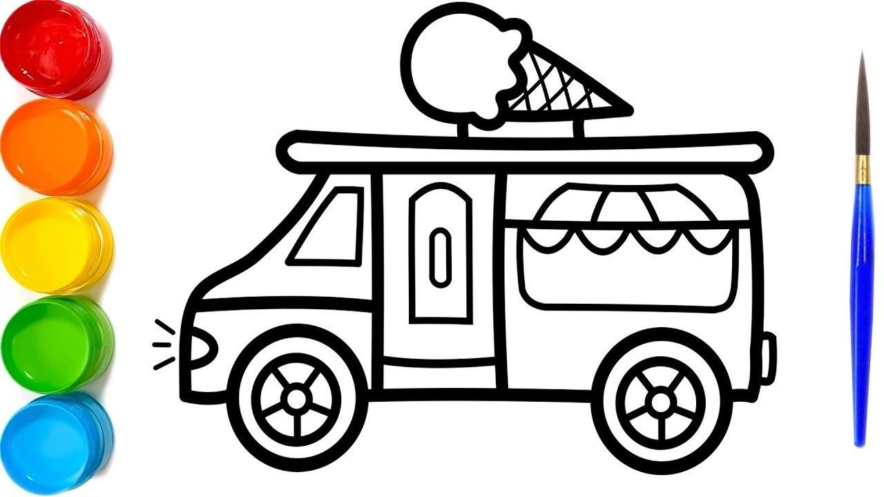 8 Coloring Page Ice Cream Truck Ice Cream Truck Truck Coloring Pages Coloring Pages