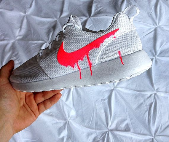 official photos 6b707 185d3 Nike Roshe Run One White with Custom Pink Candy by DenisCustoms