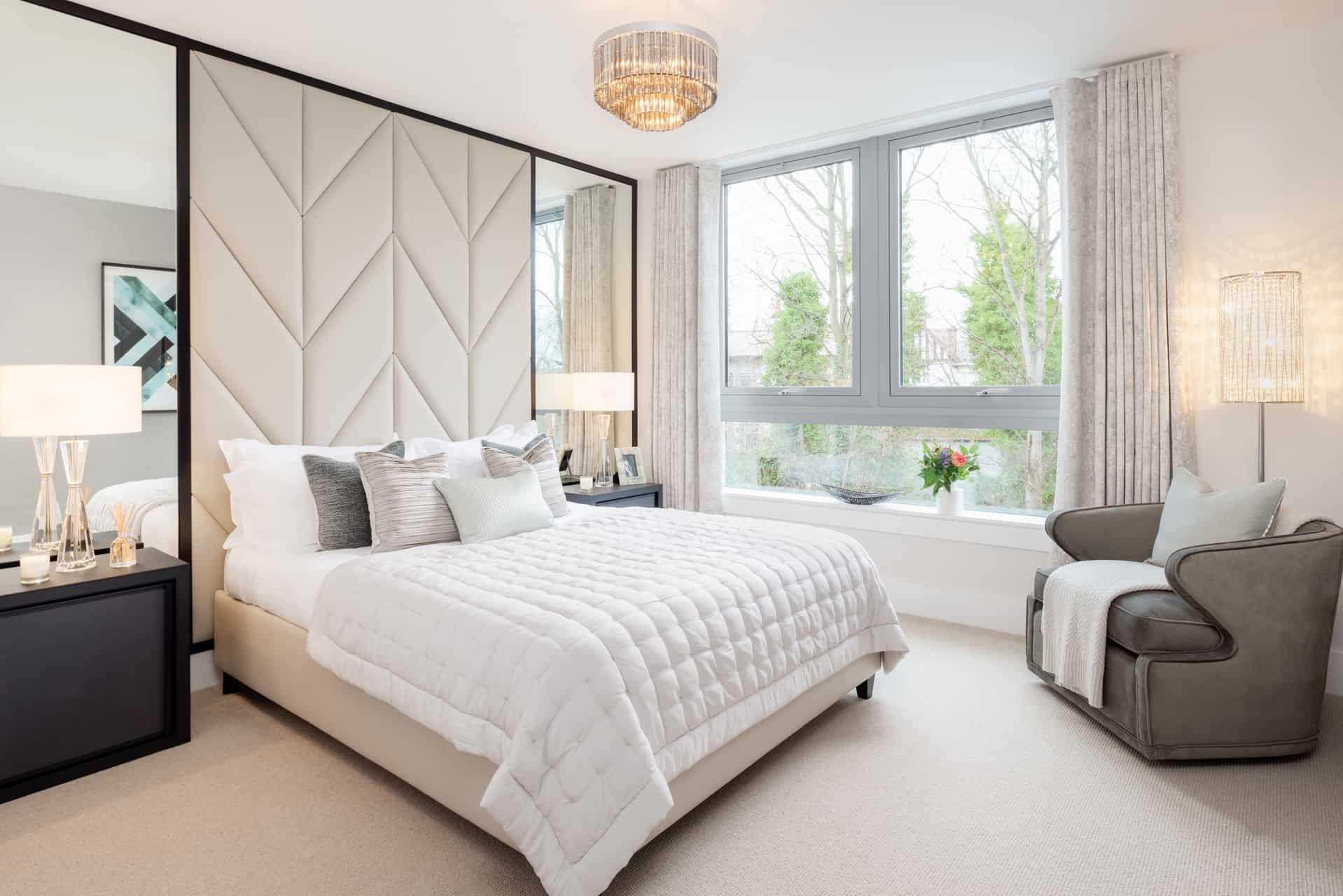 Contemporary Apartment In Edinburgh Alexander James Interiors Master Bedroom Design Contemporary Apartment Bedroom Design