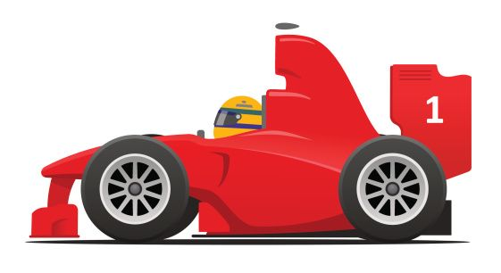 Cartoon Race Car Clipart Clipartfest With Images Red Race