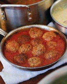 "Ricotta cheese helps to make these meatballs moist and delicious in this popular recipe from Daniel Holzman and Michael Chernow's ""The Meatball Shop Cookbook."""