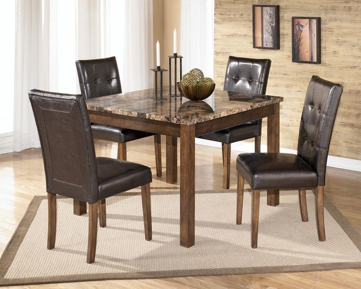 Theo Faux Marble Top Conemporary Dining Kimbrell S