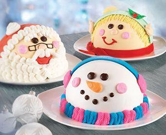 Snowman Ice Cream Cake Cuteness from Baskin Robbins Baskin