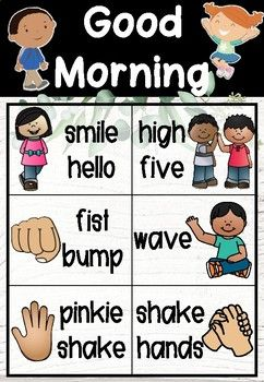 Morning Greeting Choice Board