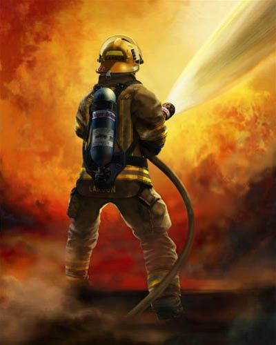 Unknown Firefighter Art Firefighter In This Moment