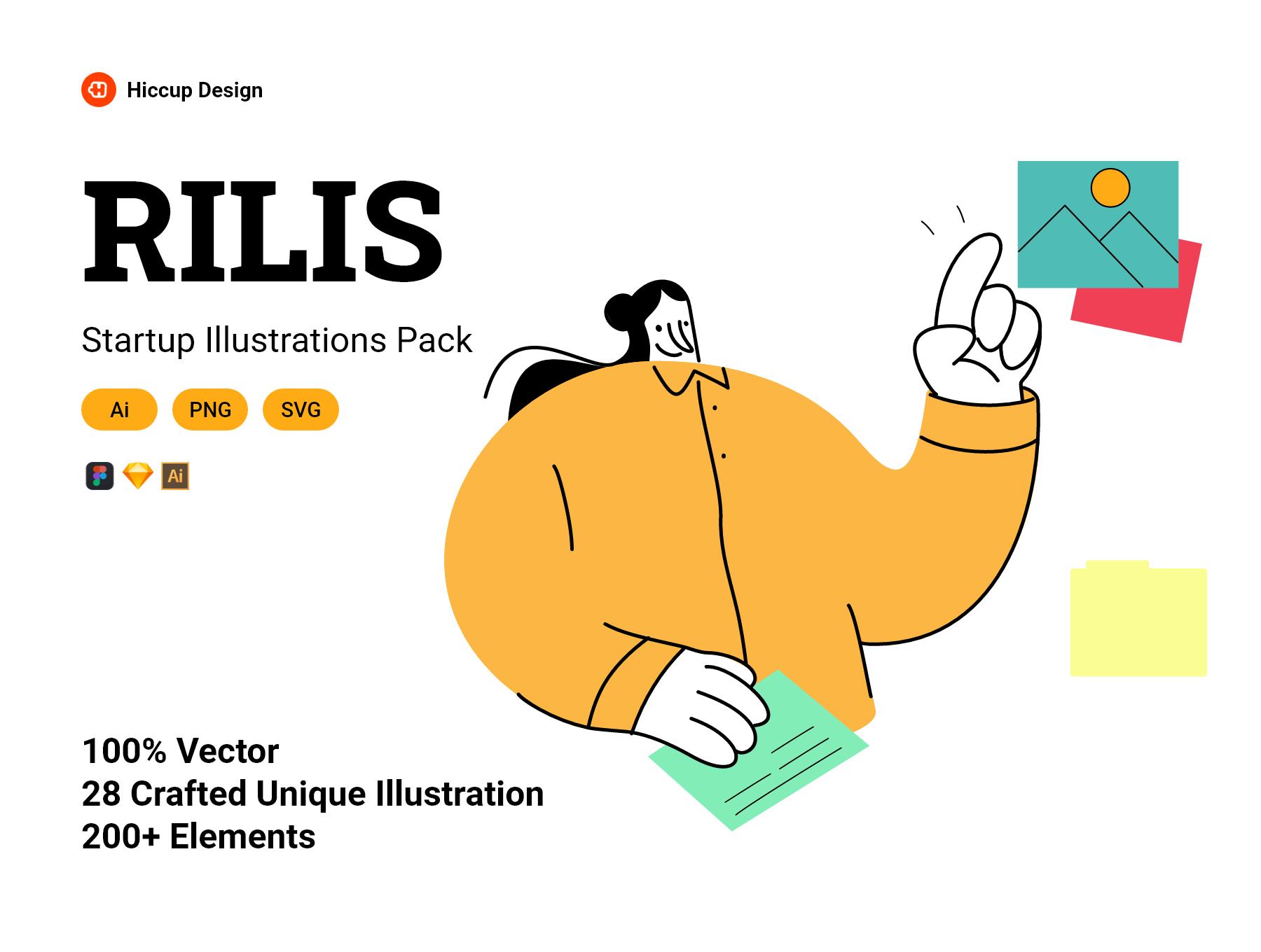 RilisStartup Illustrations Pack Premium illustrations for