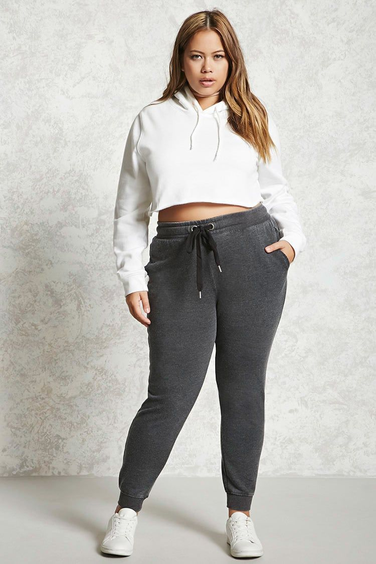 5636dafabca10 Plus Size Drawstring Joggers in 2019   Outfit   Leggings are not ...