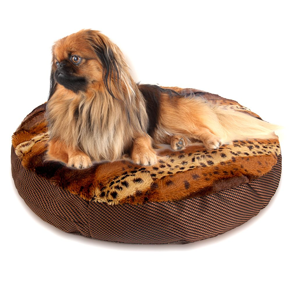 Elegant 2017 Round Dog Bed Soft Warm Leopard Cat Mat For Dogs Cushion For Pets Dog  Bed Design Ideas