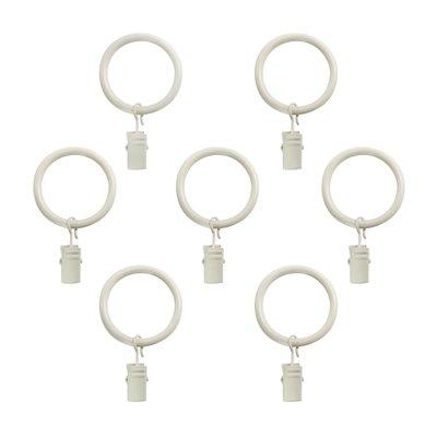 Andover Mills Von Clip Curtain Ring Finish Warm White Distressed