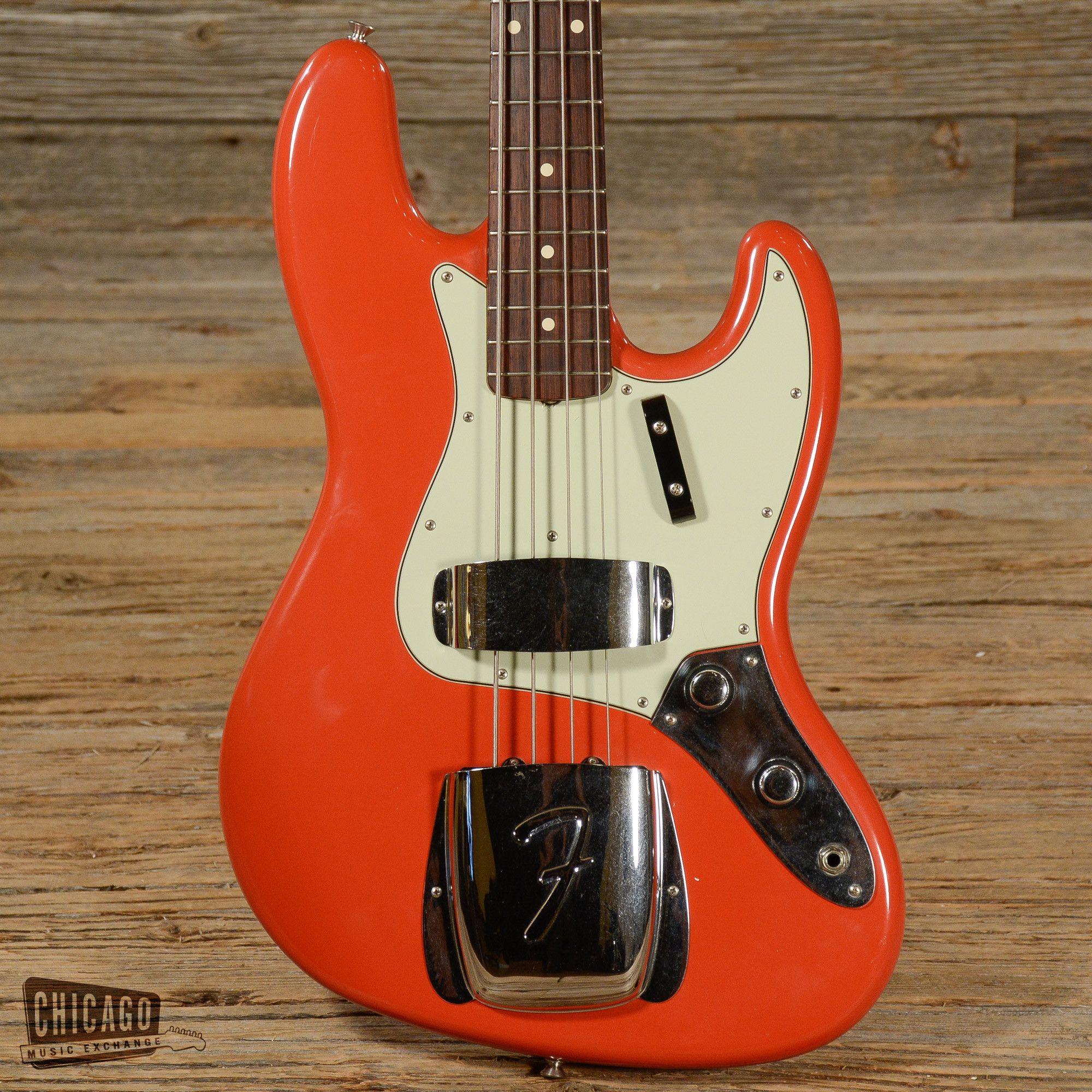 Fender Custom Shop Jazz Bass 60 Reissue Fiesta Red 2008 S907