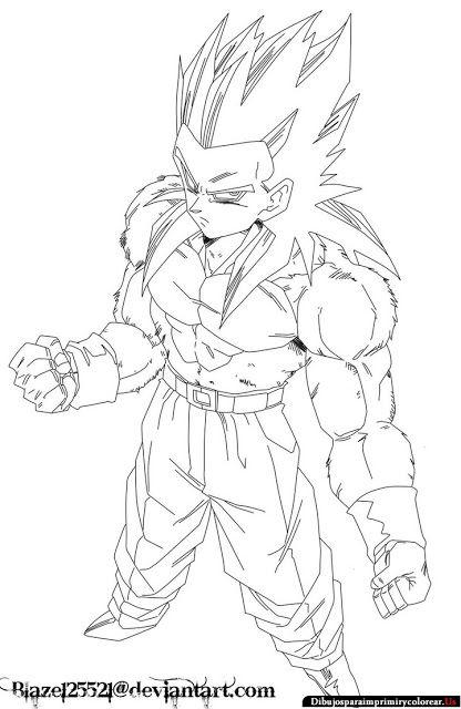 Dibujos de Dragon Ball GT para Imprimir y Colorear | grabados ...