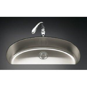 Kohler K 3185 Na Undertone Large D Bowl Kitchen Sink Amazon