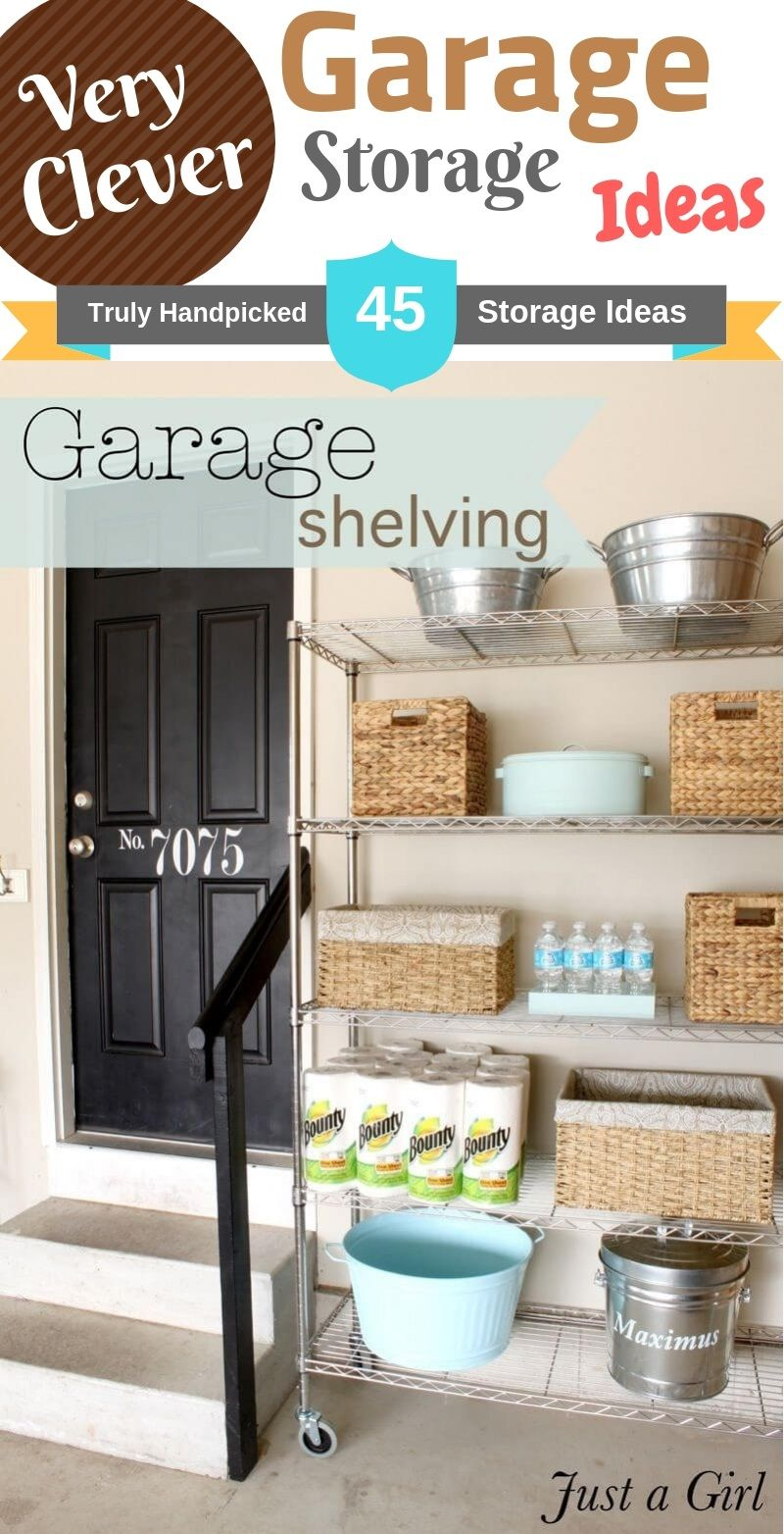 Diy Cheap Garage Storage Ideas Clever Shelving Build Plan And