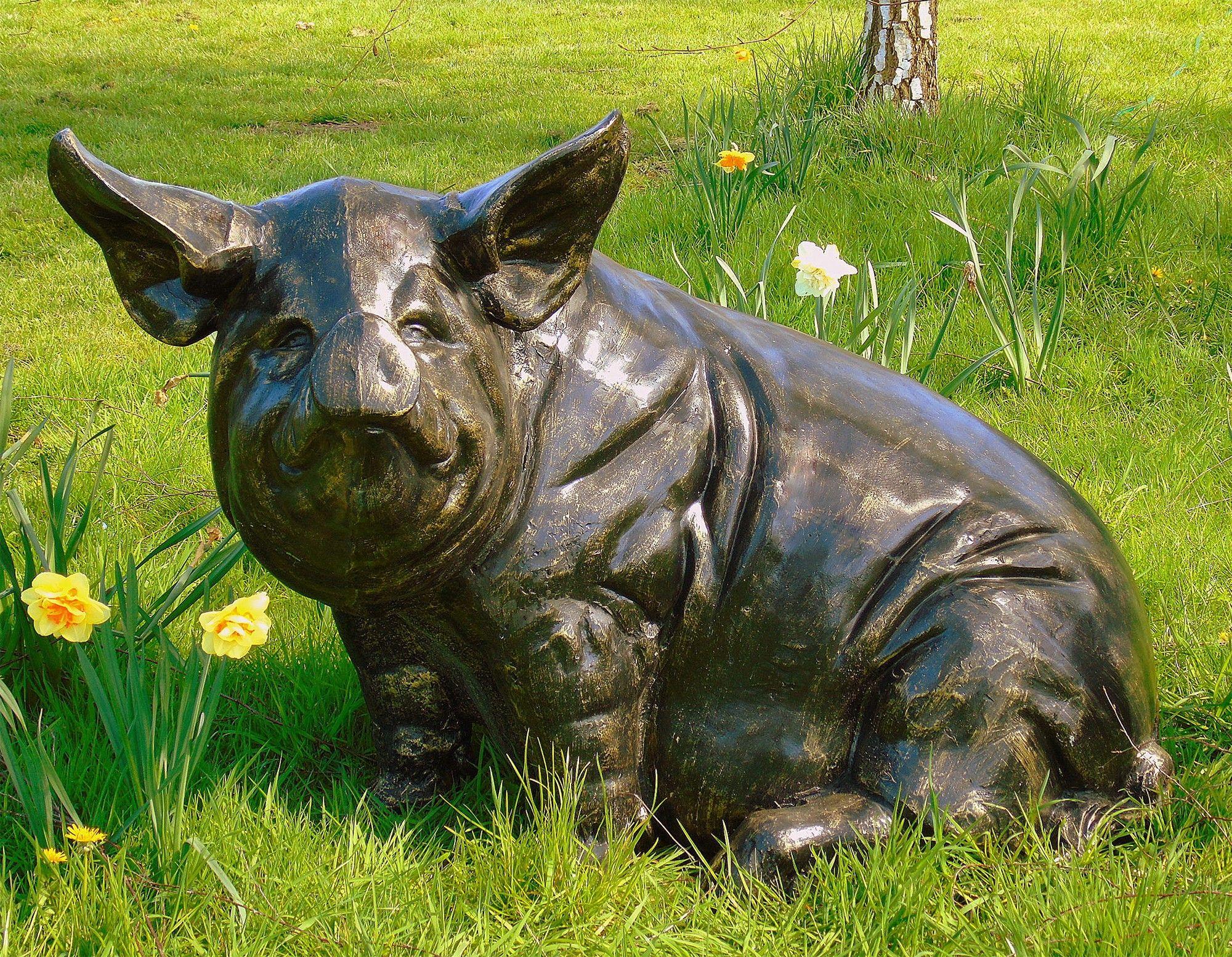 Wild Pig Bronze Metal Garden Statue. Buy Now At Http://www.