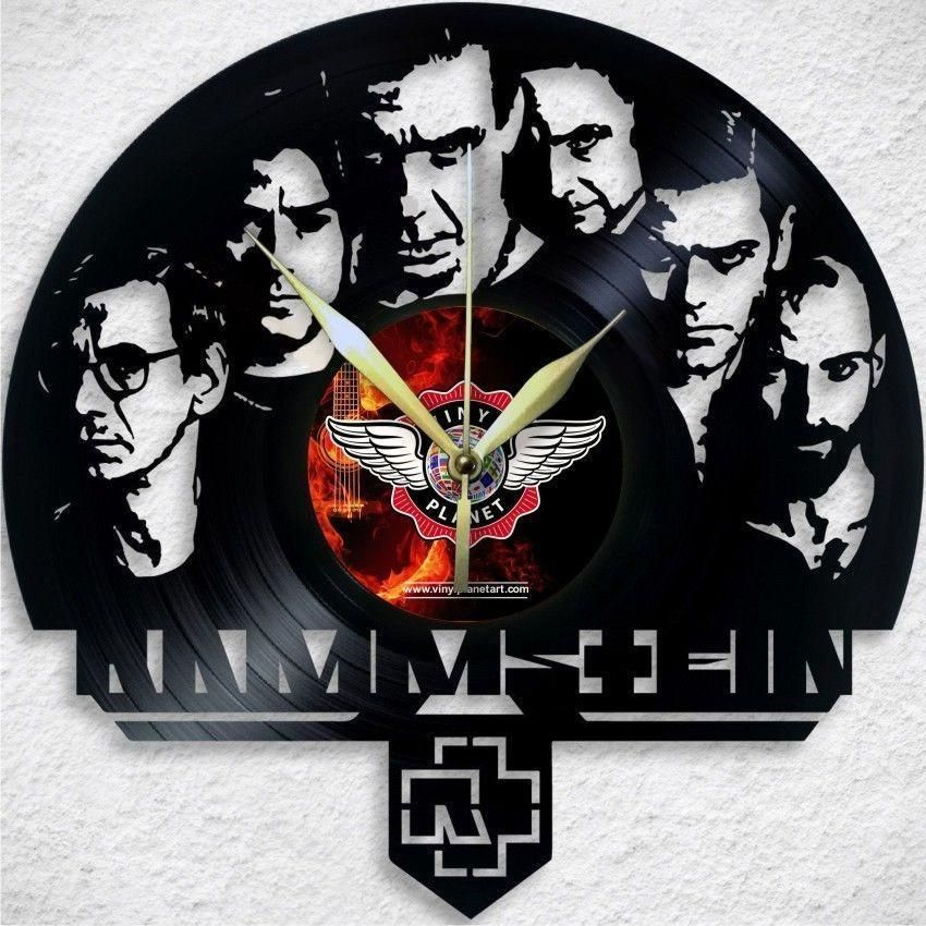 VINYL PLANET Wall Clock RAMMSTEIN Home Record Unique Decor upcycled ...