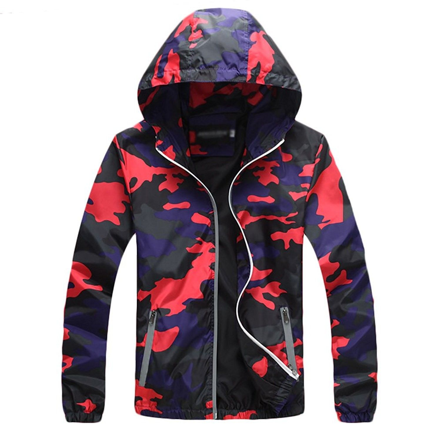 Womens Cycling Waterproof Camouflage Red Cw185a4s74w Womens Fashion Jackets Hoodie Jacket Men Camouflage Jacket [ 1500 x 1500 Pixel ]