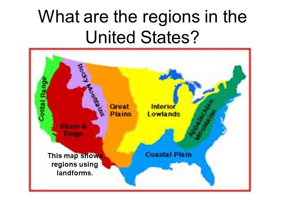 Image result for map of united states with landforms | Ms ...
