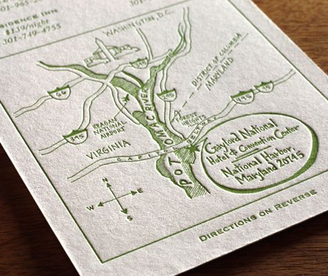 Lead The Way To Your Wedding With Maps Letterpress And Direction Cards