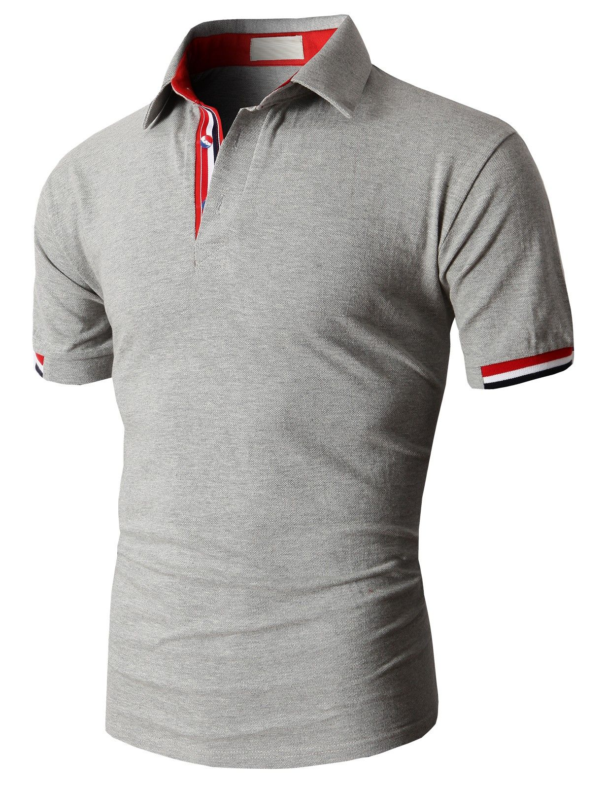 Doublju Fashion Pique Cotton Polo Shirts With Short Sleeve
