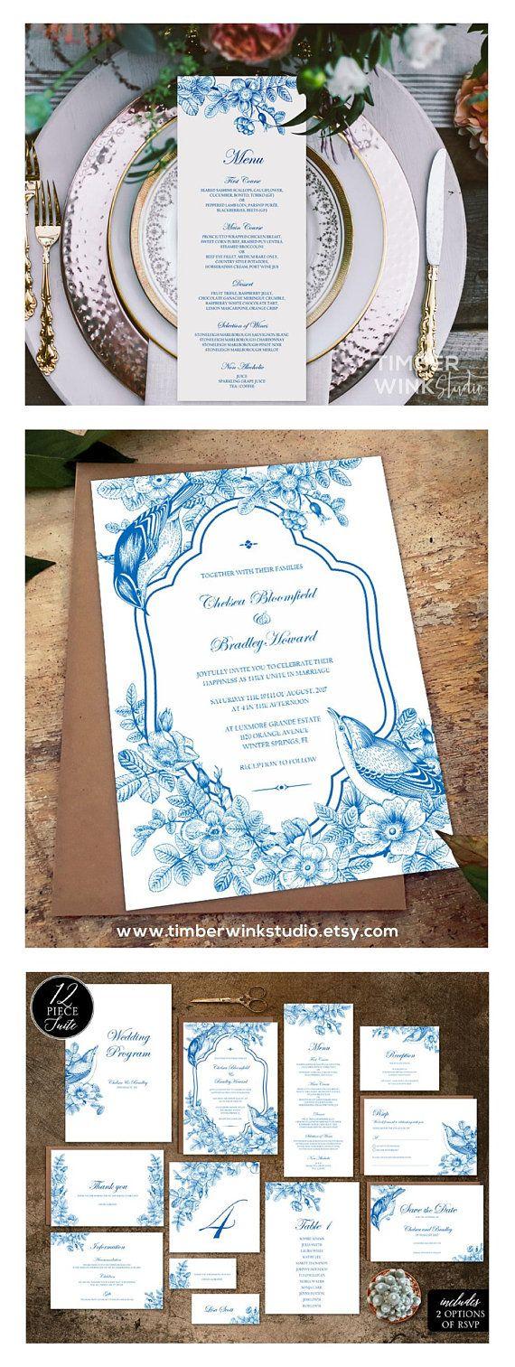 Vintage Wedding Invitation, Rustic Wedding Invite, Wedding ...