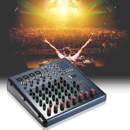 8 Channel 3-Bands Equalizer Digital Mic Line Audio LED Mixer