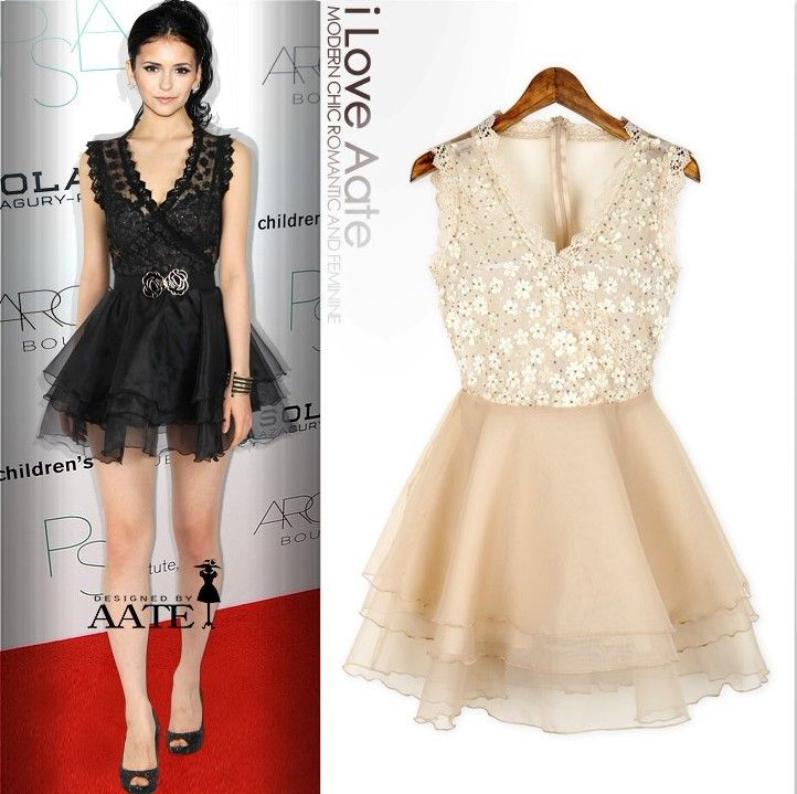 BLACK AND WHITE LACE DRESS 2013 SPRING NEW | I bubbles | Pinterest ...